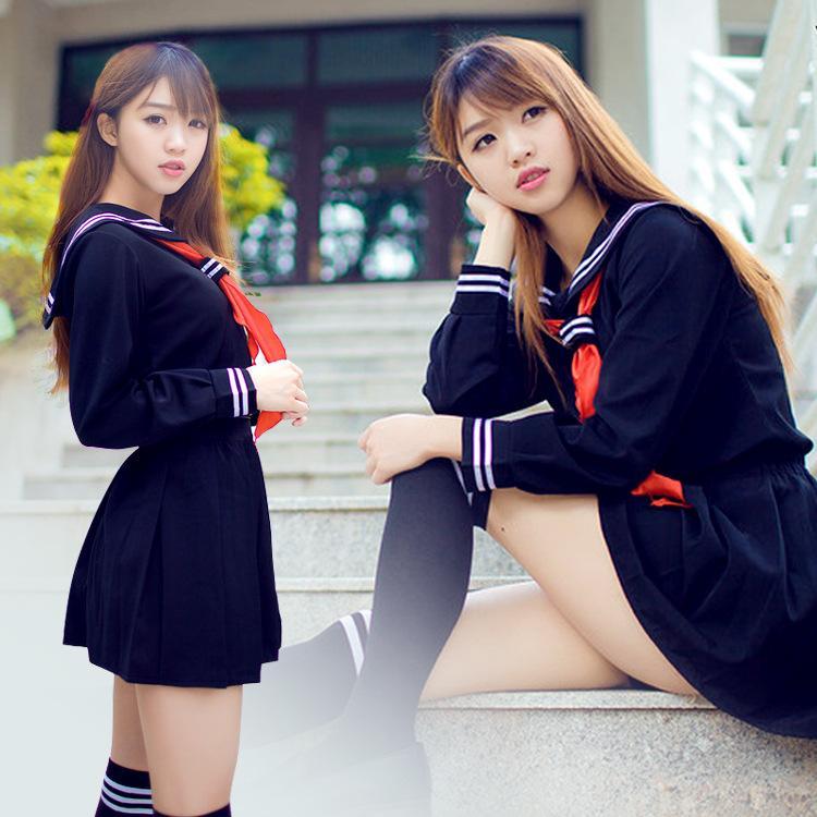Anime giapponese Jigoku Shojo Costume Cosplay Hell Girl Enma Ai Costume Cosplay JK Student School Uniform Sailor Suit