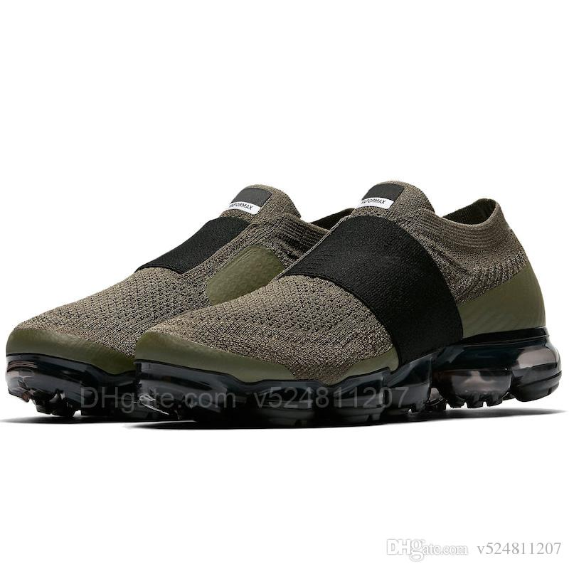 Manchester cheap price sale 2018 Vapormax Moc Releasing Mens Laceless Multicolor Triple Black For Mens Running Shoes Sneakers For Women Racer Vapor Shoe browse cost cheap price free shipping 2014 2uh3xejjp