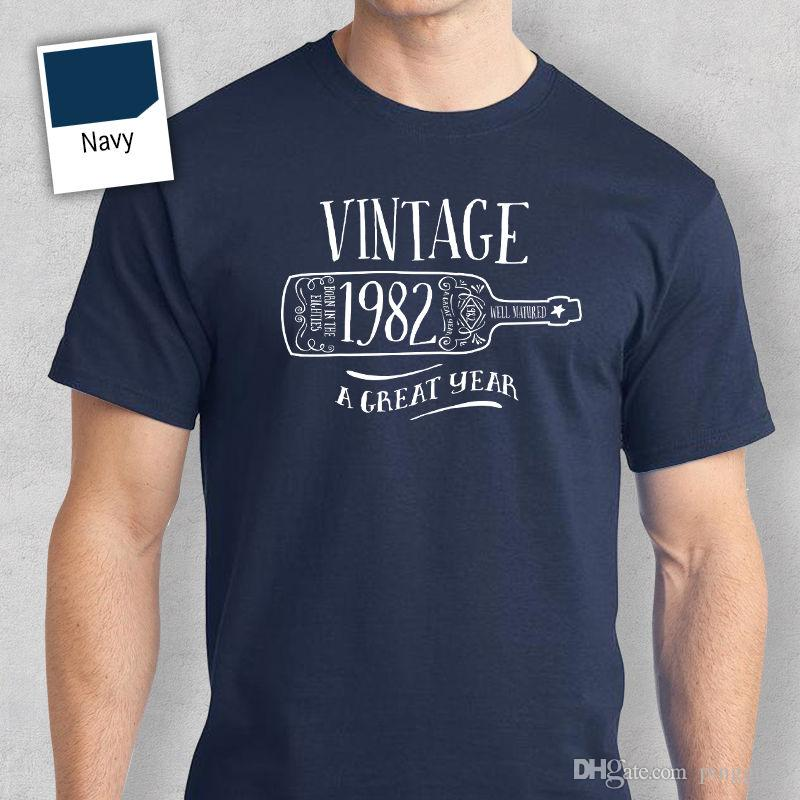35th Birthday Gift Present Idea For Boys Dad Him Men T Shirt 35 Tee 1982 Hip Hop Novelty Shirts MenS Brand Clothing Best Cheap