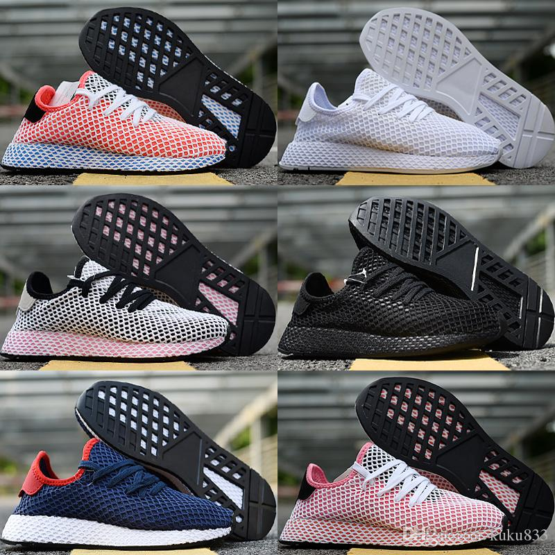 half off 72d44 f1256 Deerupt Runner Running Shoes Men Women Sneakers High Quality Grid  Breathable White Black Outdoor Training Sports Shoes Wholesale Size 36-45