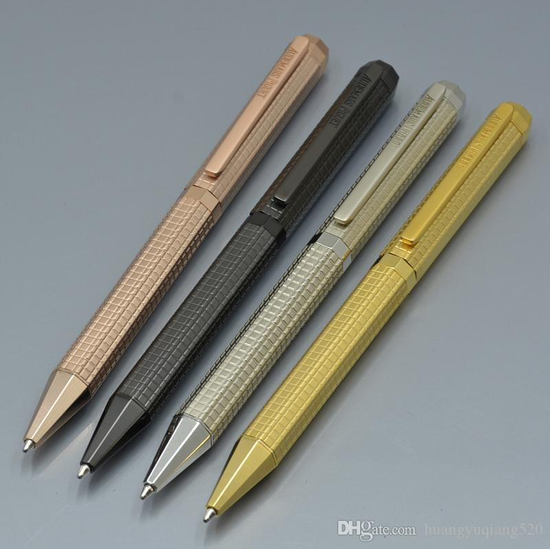 high quality A-P black - Silver - Gold - rose Gold metal Ballpoint pen fine Office stationery luxury refill pens for Christmas Gift