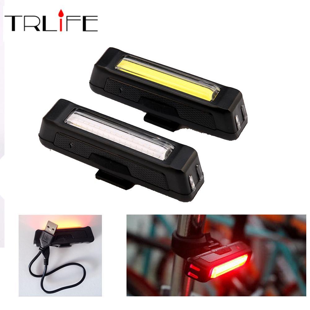 Rear Safety Flashlight Kit Waterproof 5 LED Lamp Bike Bicycle Front Head Light
