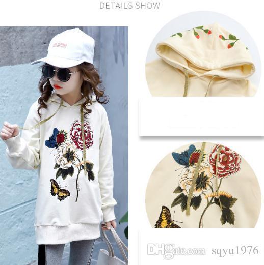 Vestido da cabeça da menina estilo chinês, Chunqiu novo estilo longo desgaste das crianças com capuz casaco de moda