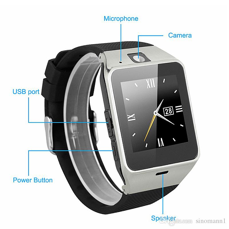 DZ09 Smart Watch Bluetooth Wristbrand Android Smart SIM Intelligent Mobile Phone Watch with Camera Can Record the Sleep State Retail Package