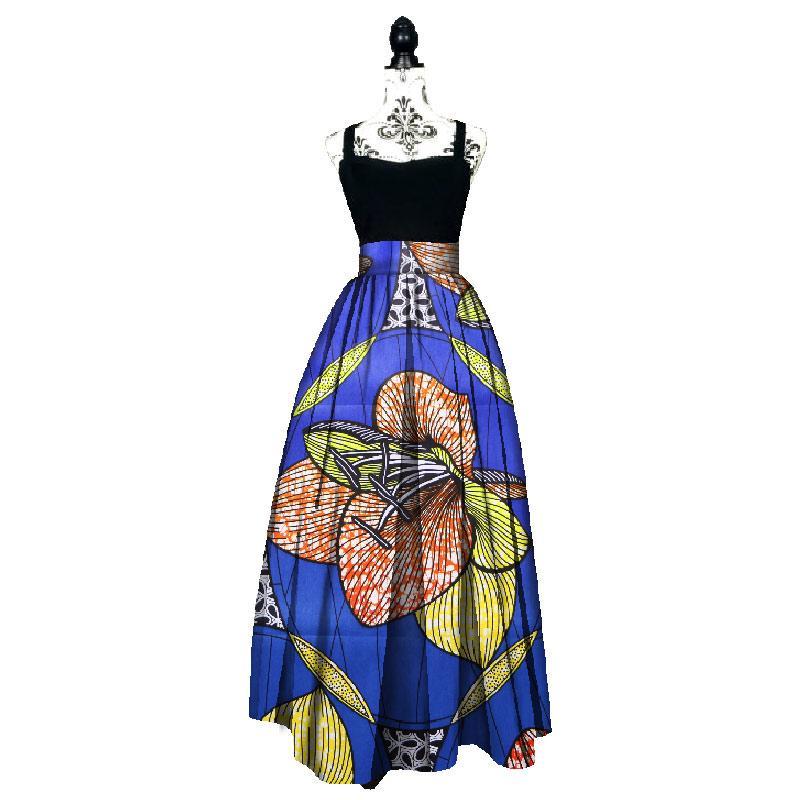 d45fb54a476 2019 2017 Fashion Women African Print Long Skirt Ankara Dashiki High Waist  A Line Maxi Long Umbrella Skirt Ladies Clothing BRW WY1744 From  Bintarealwax