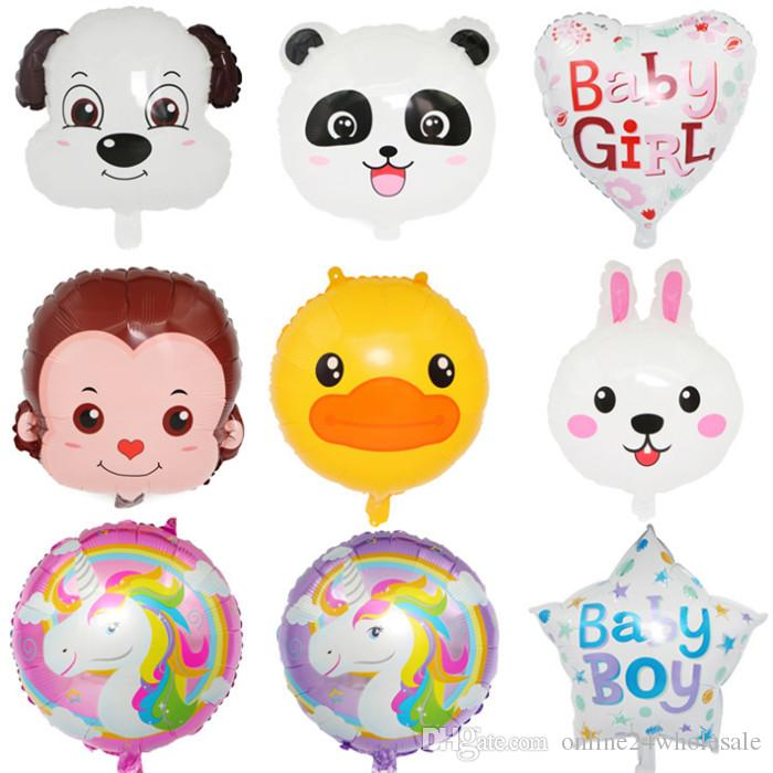 Cartoon Bear Rabbit Duck Monkey Foil Balloons Inflatable Helium Balloon Classic Toys Wedding Happy Birthday Christmas