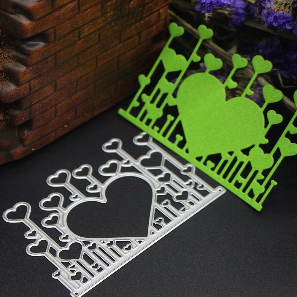 Heart Cutting Dies DIY Scrapbooking Embossing Metal Stencil Wedding Decoration Cards Decorative Craft Dies Card Cutter
