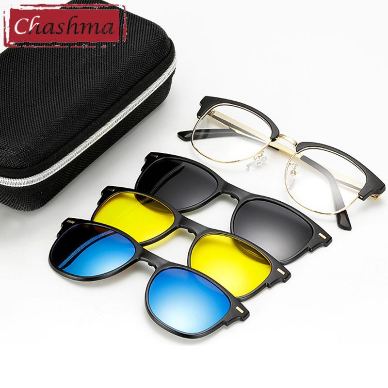 a79c890b1e 2019 Chashma Brand Designer Eyewear Women Clips Polarized Lenses Magnet  Night Driving Yellow Sunglasses Optical Glasses With 3 Clips From  Mudiaolan