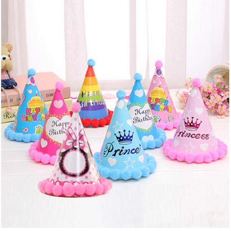 Balls Birthday Hats Childrens Holiday Decorations Party Supplies Paper Hair Rainbow 145x185CM Hat Children