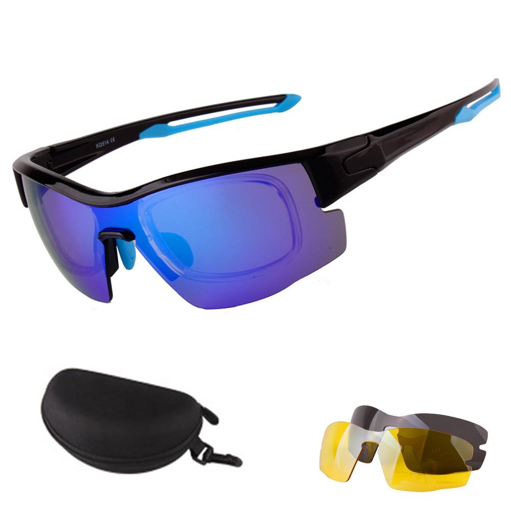 a6f552b0e69 2019 Outdoor Sports Polarized Cycling SunGlasses Mountain Bike Goggles 4  Lens Cycling Eyewear Bicycle Sunglasses Glasses 2018 From Monida
