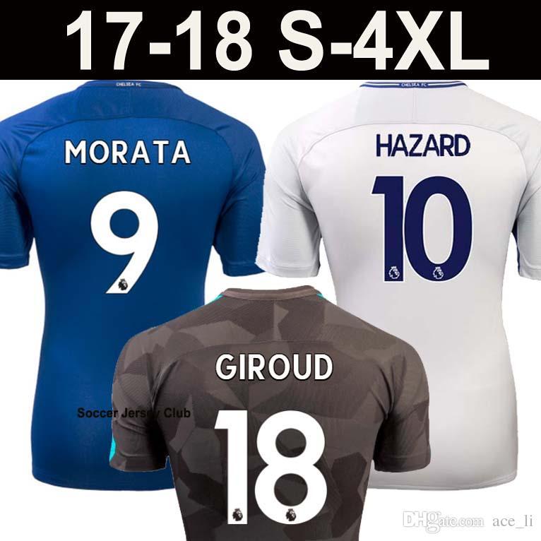 2018 Giroud Morata Hazard Chelsea Fc Soccer Jersey Football Shirt ...