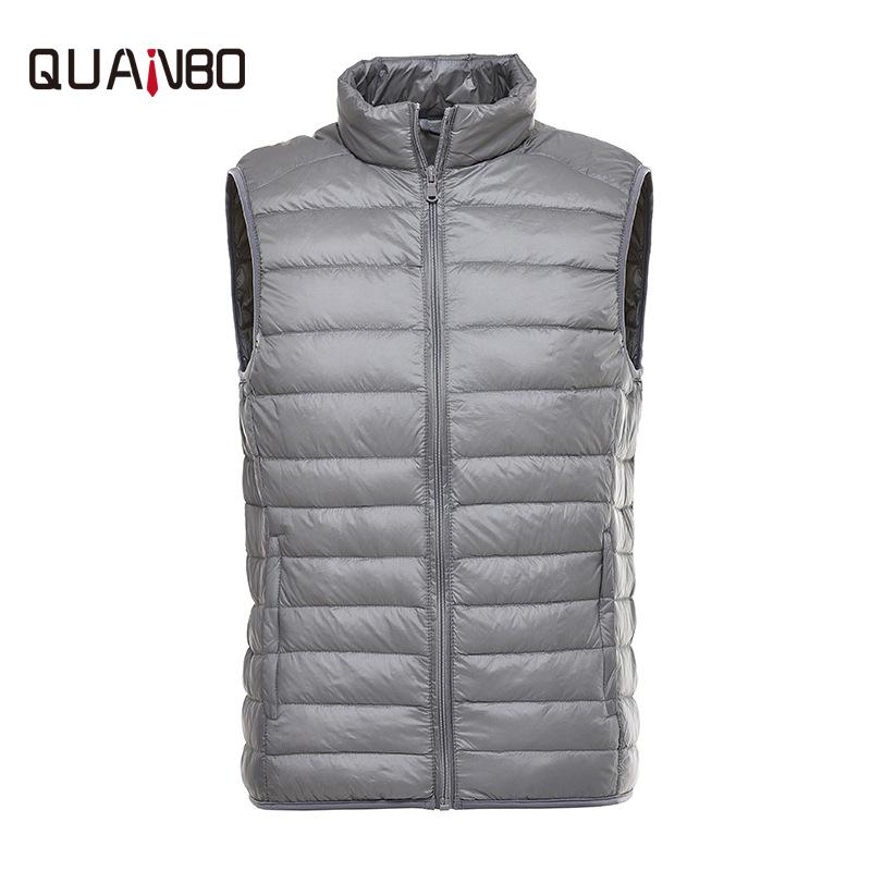 wholesale dealer a4942 a38c0 Piumino leggero da uomo Caldo colletto da collo invernale breve paragrafo  gilet in piuma Fashion Casual Jacket Uomo M-4XL