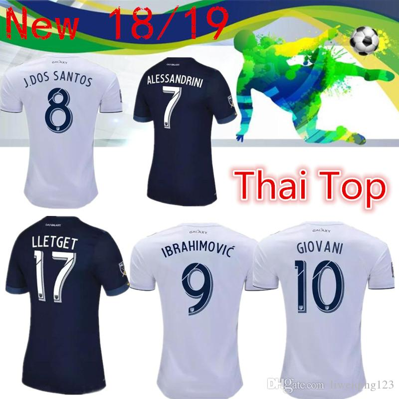 eead34a9c04 2019 MLS 2018 Los Angeles Galaxy Home Soccer Jersey 2018 Galaxy White Soccer  Shirt Customized # 9 IBRAHIMOVIC Football Uniform Sales From Liweiqing123,  ...