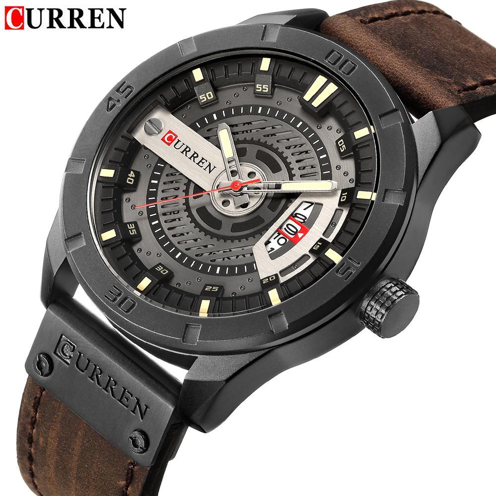 Großhandel Curren Marke Luxus Herren Uhren Lederband Wasserdicht