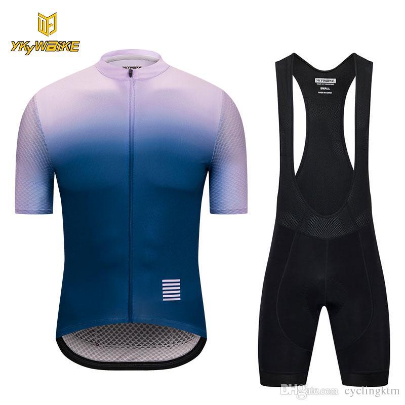 YKYWBIKE 2018 Summer Short Sleeve Cycling Bib Set Breathable High ... 3f2a64770