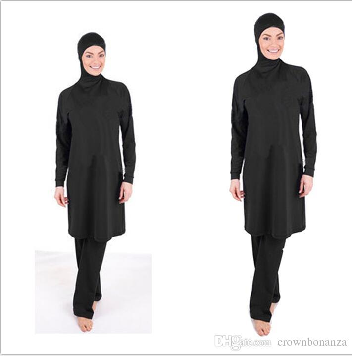 Women summer Full Coverage Modest Muslim Swimwear Islamic Swimsuit for Women Arab Beach Wear Hijab Swimsuits Bathing suit Burkinis plus size