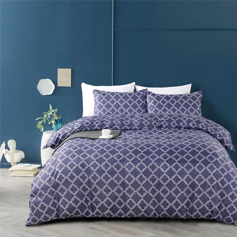 American Geometric Pattern Bedding Set King Queen Size Duvet Cover