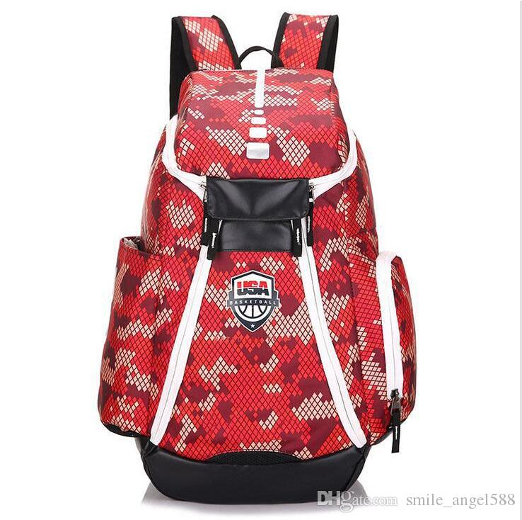 Student Bag Schoolbags New Olympic USA Team Packs Backpack Man Bags Large Capacity Waterproof Training Travel Bags Shoes Bags