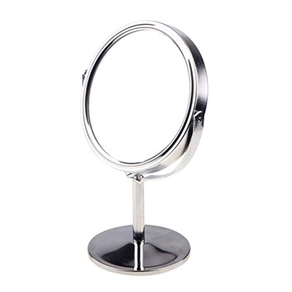 Double Sided Magnifying Makeup Table Mirror Round Rotary Desk Mirror Stand Table Mirrors Ladies Women Cosmetic Makeup Mirrors