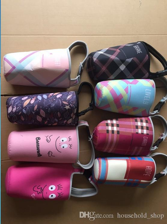 Becher Sleeve Halter Portable Paket Griff Taschen 840ml Cups Tumb Mesh Tasche ForRocky Mountain Tassen Dekorative Halter Ärmel Easy Carry
