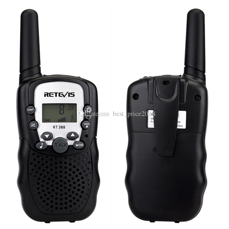 Um Par Retevis RT-388 Mini Walkie Talkie Crianças Rádio 0.5 W 8 / 22CH Display LCD Amador Two-way Rádio Talkly Crianças Transceptor