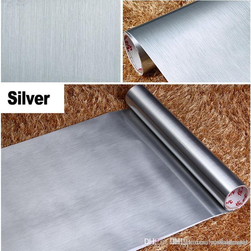 10m selbstklebende reflektierende Film-Spiegel-Glasaufkleber  PVC-Tapeten-wasserdichte Küche-Silber-Fenster-Filmgoldfolien-Tapeten