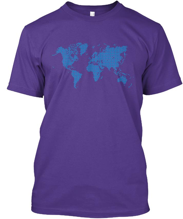 Good Quality Brand Cotton Shirt Summer Style Cool Short Sleeve Graphic World Map Wholesale Discount O - Neck Mens Tees