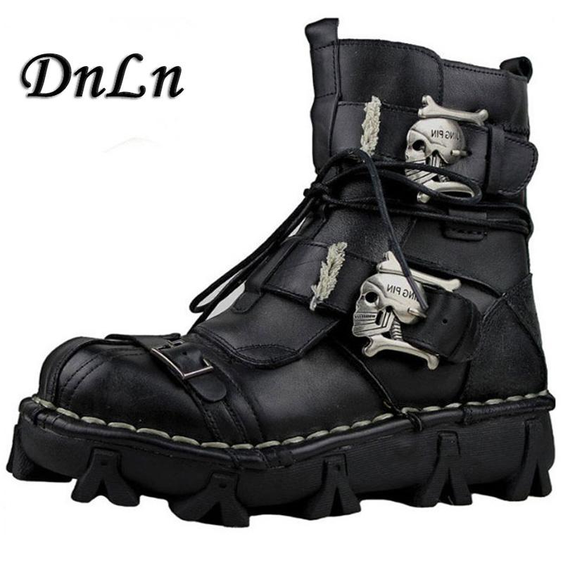 217a9c062c1 Gothic Fashion Mens Skull Boots Martins Shoes For Men Metal Skeleton Warm  Ankle Shoes Man Oxfords Shoe Boots Over Knee Boots From Beasy111