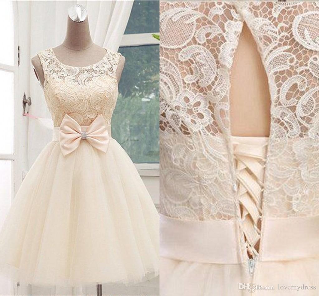 27945878f4a2 Short Prom Dresses Lace