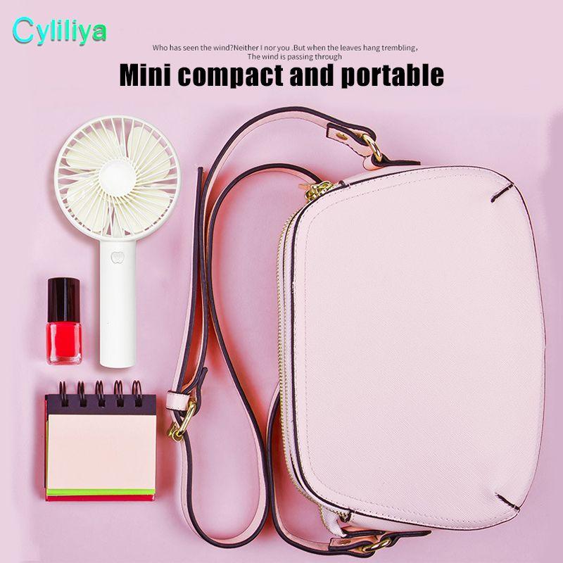 SS12 Mini Ventilador Portátil Multifuncional USB Recargable Mesa Ventilador de Mesa Luz LED 18650 Batería Ajustable 3 Velocidad para niños de interior