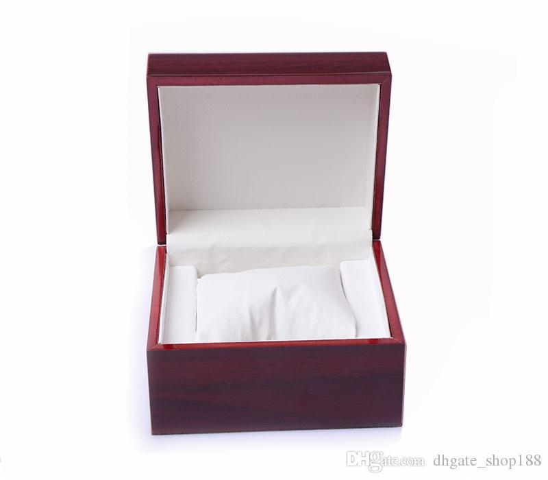 Hochwertige boxen vintage braun mode holz uhr box mit kissen paket fall armbanduhren boxen uhr boxen fällen