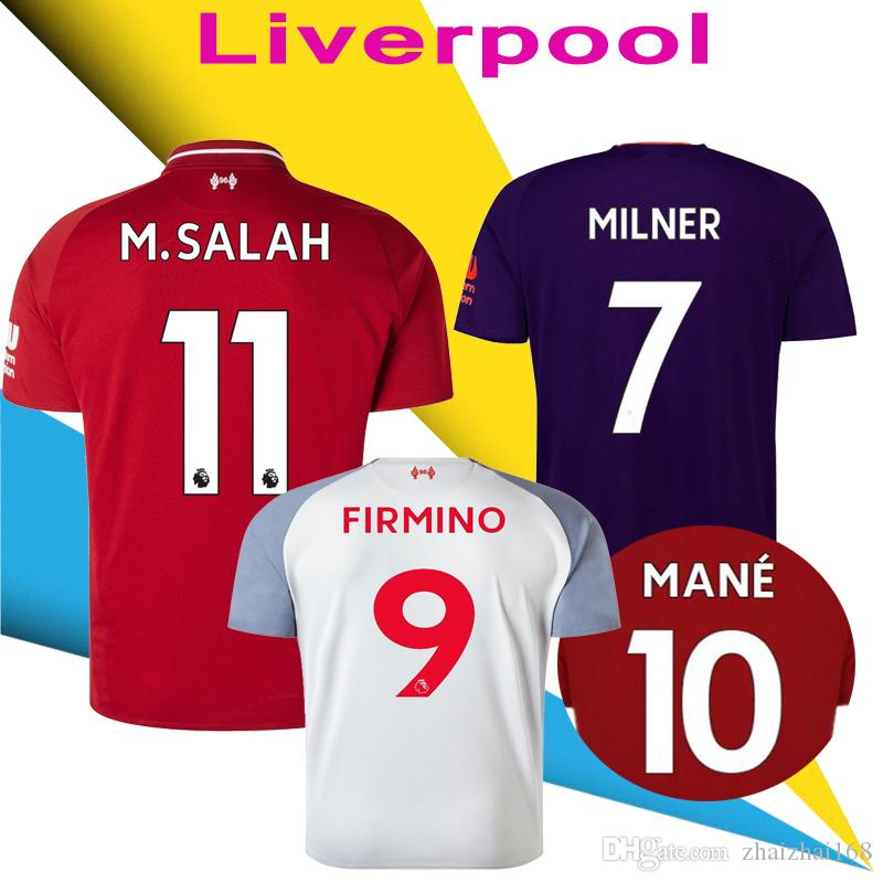 8275918f94 2019 LVP Soccer Jersey 2018 19 SALAH SHAQIRI Football Shirt ORIGI LALLANA  FIRMINO VIRGIL MANE Sturridge 18 19 Uniforms Away 3rd Jerseys From  Zhaizhai168