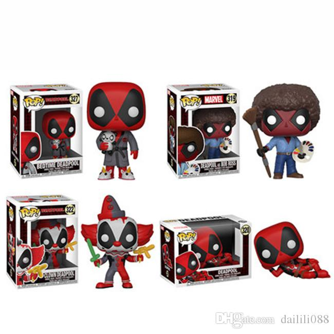 Action- & Spielfiguren Boxed Funko Pop Vinyl #322 Clown Deadpool Figure Heroes Marvel Series Film, Tv & Videospiele