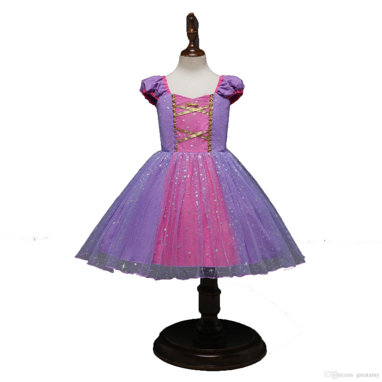185087226 2019 Halloween Baby Girls Makeup Dress Purple Color Children ...