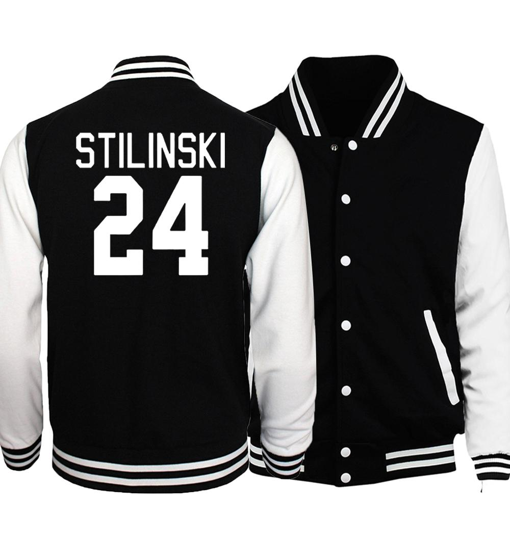 fba0d315254 Teen Wolf Stilinski 24 Jacket Men Black White Coat The Flasher Star S.T.A.R  Baseball Jackets Hip Hop Streetwear Plus Size 5XL Spring Jackets Leather  Jacket ...