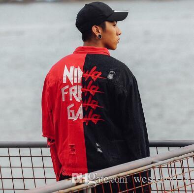 Korea Autumn Street Brand Men Denim Jacket Punk Style Retro