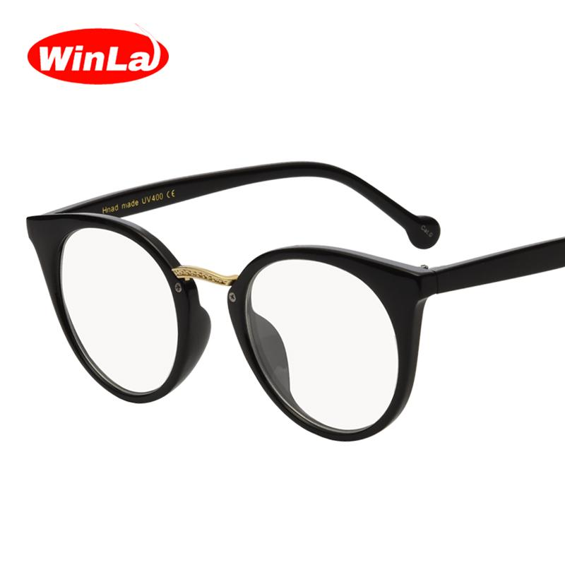 900023e7ffa Winla Fashion Design Cat Eye Plain Glasses Women Reading Spectacles Optical  Lens Classic Eyewear Frames For Female Oculos WL1119 Designer Eyewear Frames  ...