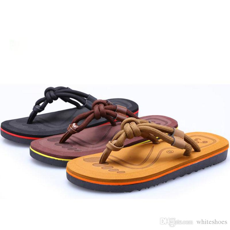 35385e0e9a30 Mens Beach Slippers Fashion Designer Summer Newest Mens Flip Flops Designer  Outdoor Casual Slippers For Men Footwear Ladies Shoes From Whiteshoes