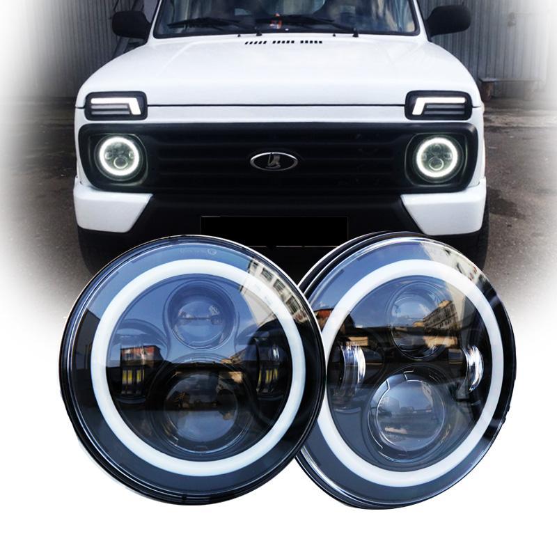Lada 90110 Pour Phares Niva À D Angle Ronde 4x4 Jour Des De 7 Avec Urban 40w Lampe Frontale Yeux Defender Led H4 doBxerC
