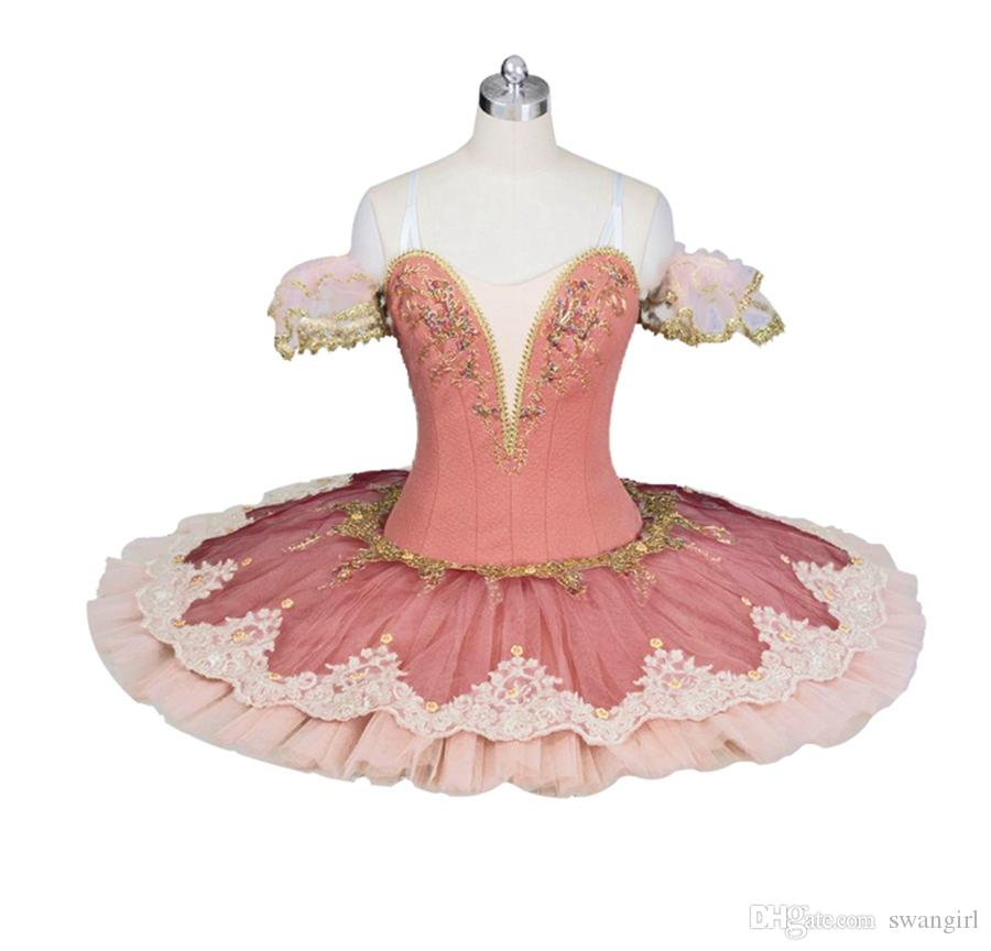 9ebb5c81ef 2019 Adult Peach Fairy Professional Ballet Costumes For Women Ballerina  Girls Performance Pancake Tutu Dress Adult Ballet Tutu Costume BT9026 From  Swangirl, ...