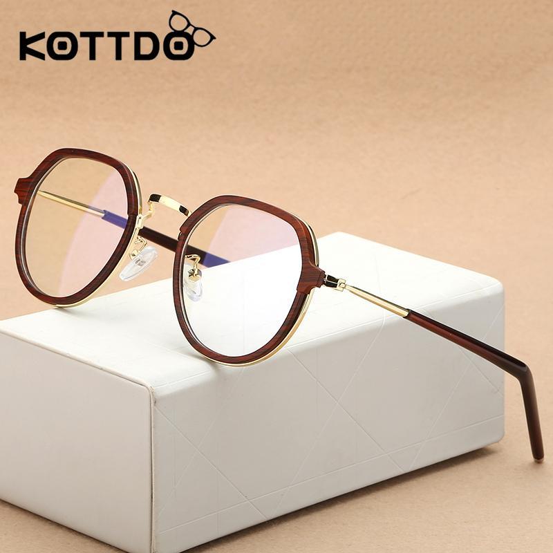 f12db456a4 Compre Kottdo Nueva Moda Tr90 Ronda Ultra Light Eyewear Gafas Marcos  Ópticos Vintage Clear Lens Retro Students Eyeglasses Oculos A $29.91 Del  Gwyseller ...