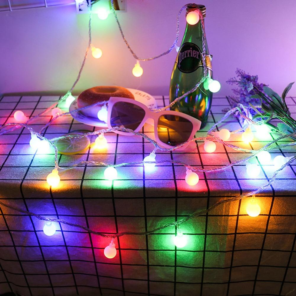 50 Leds Ball Fairy String Light With 5m Remote Controller Outdoor Light For Home Garden Wedding Decoration Christmas Night Light Lights & Lighting