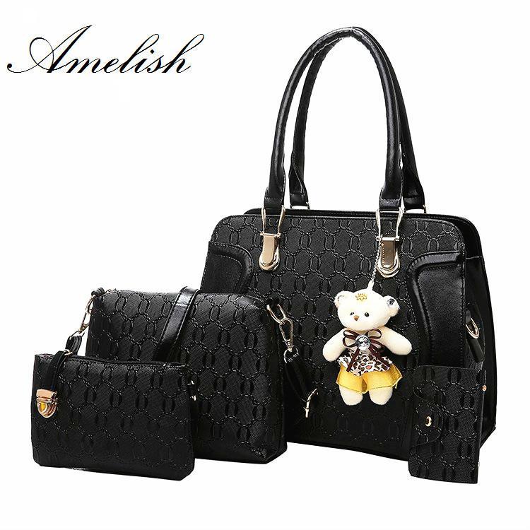 a4671dd56384 2018 Luxury Handbags For Women Bags Brand Designer Purses Clutch Handbag  Set Bags Female Bolsa Feminina Hard Bag Wallet Leather Purse Womens Purses  From ...