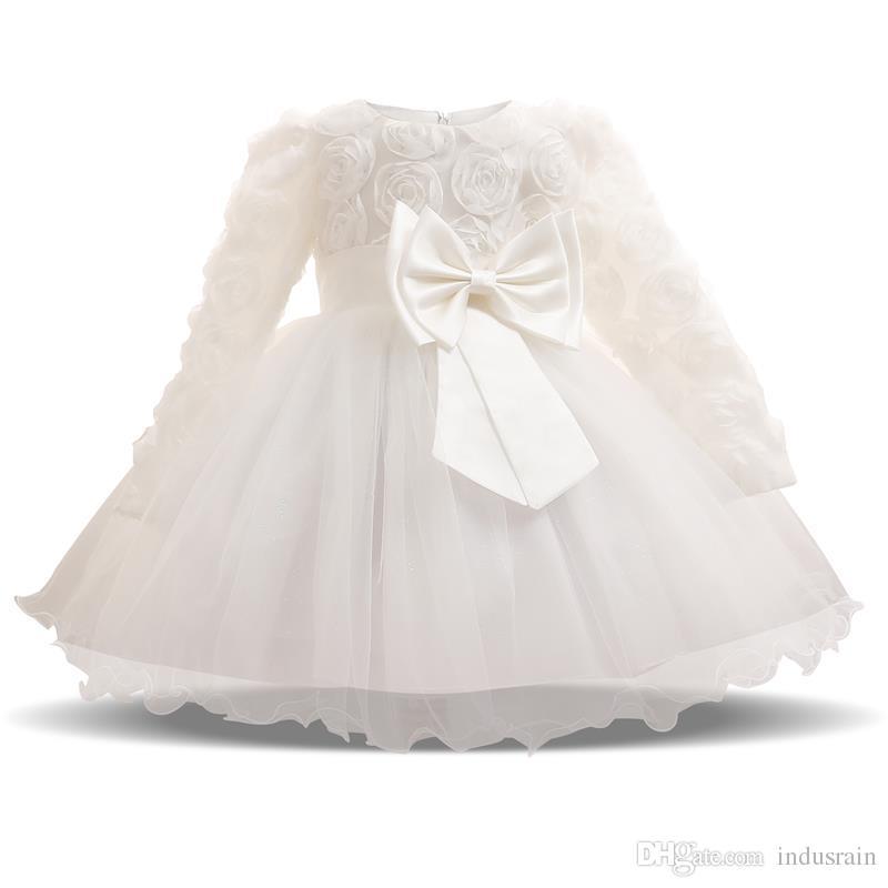 283070d685bc 2019 Baby Girl Dress Winter Tutu Dresses For Newborn Baby Wedding ...