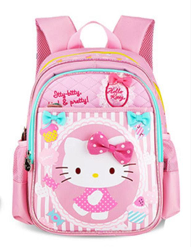 bd4b3b94e1dd Cute Hello Kitty Backpacks Kids Bag Schoolbag Baby Kindergarten Preschool  Backpack Children School Bags For Girls Rucksacks Backpacks With Wheels For  School ...