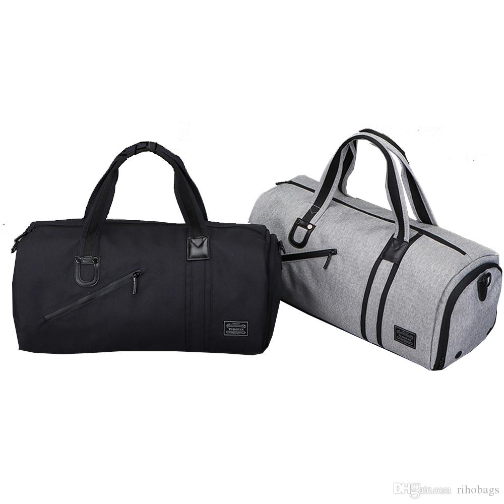 60d0f037c1bb Men Waterproof Gym Bag Wet Dry Seperate Sport Bag Travel Bag Shoulder Bags  For Women Travel Bags Online From Rihobags