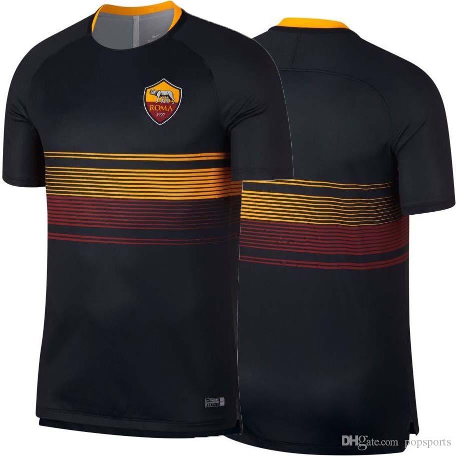 c8f85c0686 Acquista 18 19 Maglia Da Calcio Roma Allenamento Maglia Da Allenamento Nero 2018  2019 Pre Partita Maglia A Secco Totti Dzeko DE ROSSI A $15.23 Dal Popsports  ...