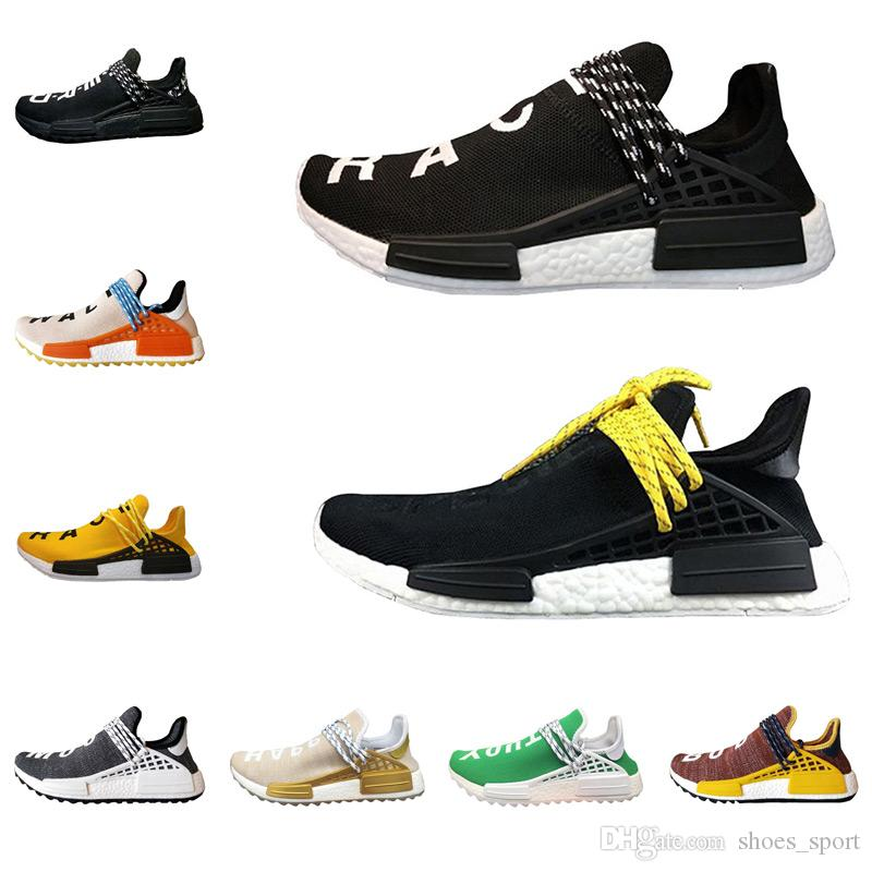 buy online 622af c9ee4 2018 new Human Race Pharrell William Shoes Sports Running Shoes discount  Athletic mens Outdoor shoesTraining Sneaker Size 36-46