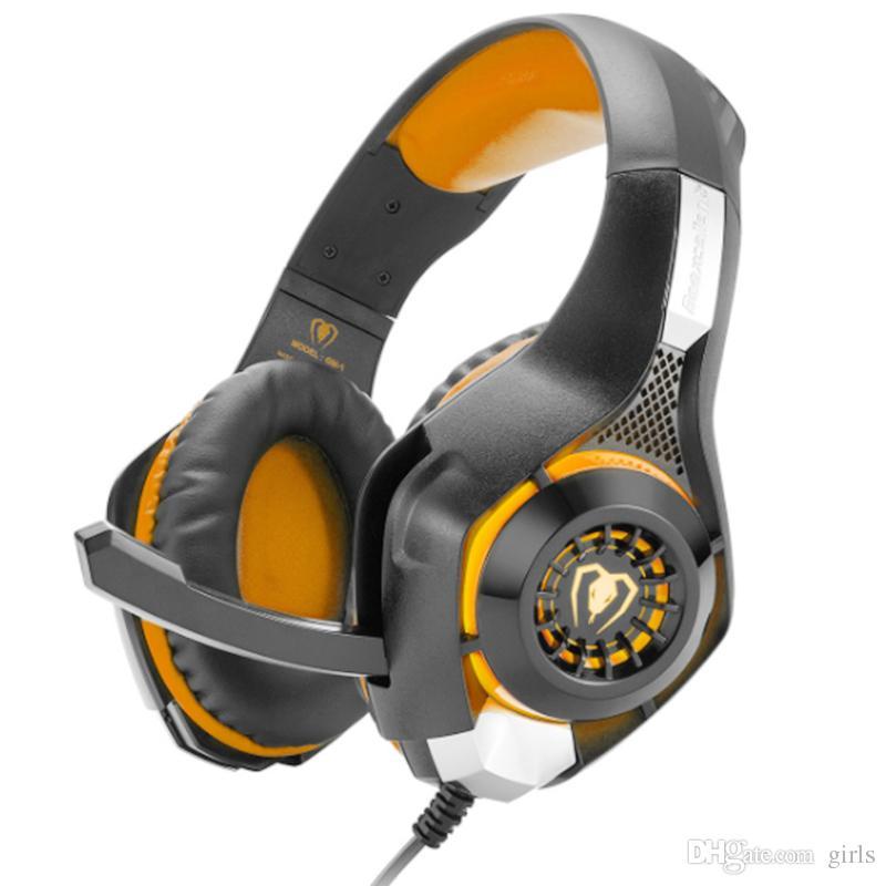 GM-1 Gaming Headphone avec micro LED Light Stereo Game Headset GM-1 avec microphone pour la nouvelle Xbox 1 PSCellphone Laptops Ordinateur