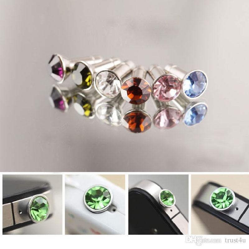 Универсальный 3,5 мм Кристалл Алмаза Anti-Dust Разъем Пылезащитный Разъем Для Наушников для iPhone 3G 4G 4S iPad Samsung Мобильный Телефон Смартфон